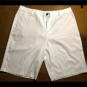 Adidas White golf shorts